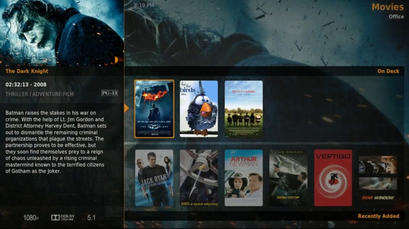 plex htpc interface