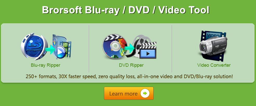 Brorsoft Blu-ray/DVD/Video Tool